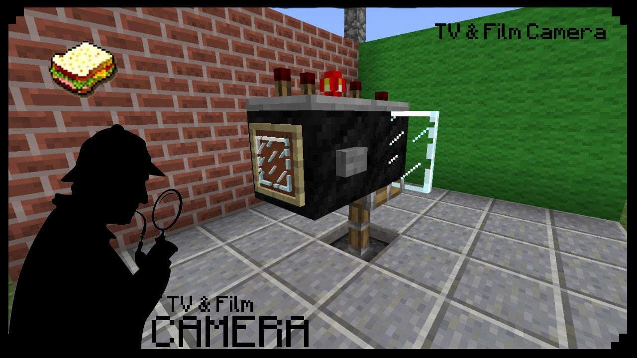 Minecraft how to make a film tv camera youtube - Tv in camera ...