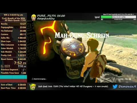 Breath of the Wild All Main Quests Speedrun in 3:40:55