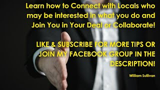 Learn how to Connect Quickly with Local Network Marketers and Collaborate Ideas!