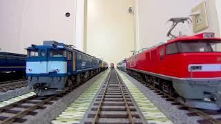 鉄道の日記念 機関車大集合(HOゲージ車載動画)