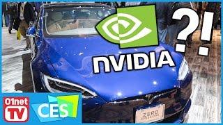 Que fait une Tesla Model S sur le stand NVIDIA ?! - CES 2017