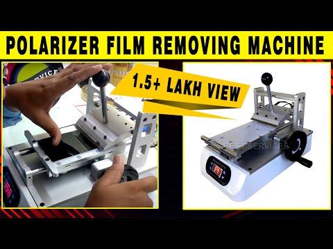 Oca Glue , polarizer film removing machine by best services (1 take no editing)