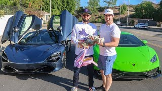 CASH RACE - Mclaren 720s vs Supercharged Lamborghini Huracan!