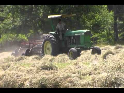 JD 4020 w/ New Idea Rakes and JD 4330 w/ NH 575 Baler