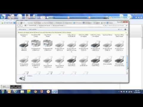 Installing A Fuji Xerox Print Driver For Windows 7