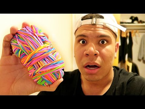 10,000 ELASTIC BAND PHONE PRANK!!