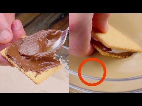 Unta las galletas con Nutella y sumérgelas en este líquido. Un sueño hecho realidad