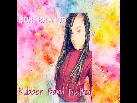 Rubber band box braids