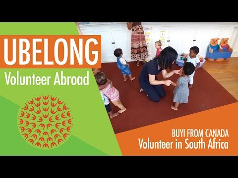 An analyst from Canada volunteers in South Africa with UBELONG