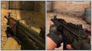 Evolution of Galil Ar in Counter Strike (1999-2018)