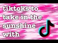 tiktoks to take in the sunshine with