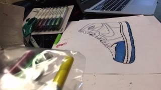Air Jordan 1 (UNC) Drawing
