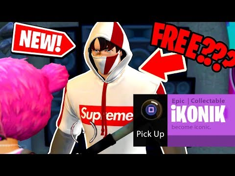 New How To Get The Supreme Ikonik Skin For Free Ps4 Xbox In Fortnite Battle Royale New Youtube