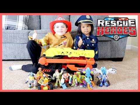 Playing With Fisher-Price Rescue Heroes Toys!!