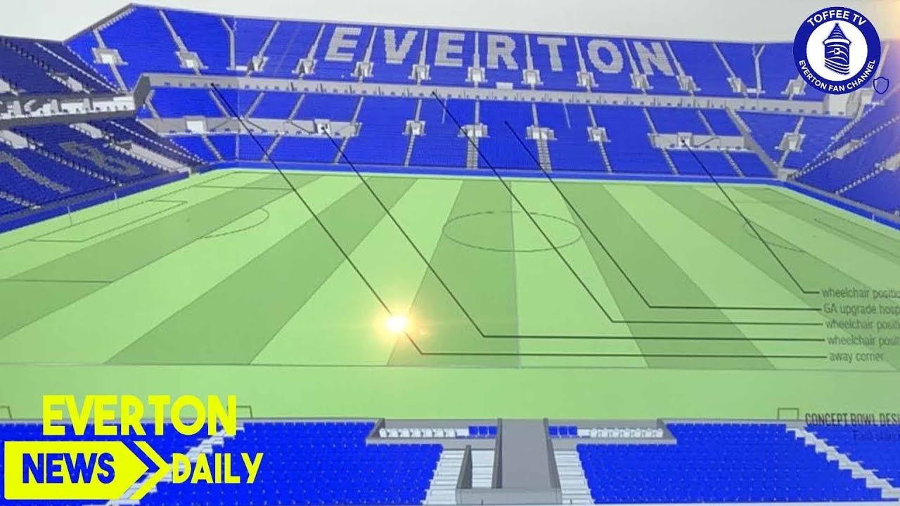 First Everton Stadium Plans Revealed Everton News Daily Youtube