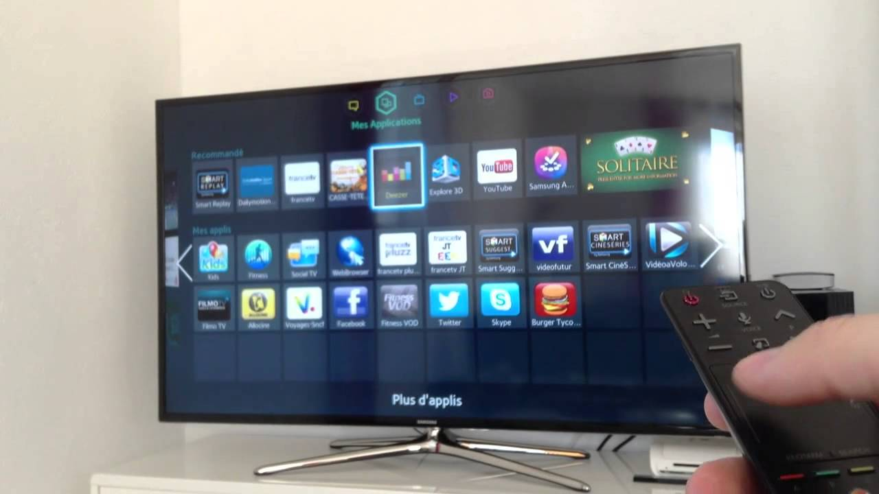 7b7a63f35968b Présentation de ma TV SAMSUNG 55  SMART TV (LED et 3D) - YouTube