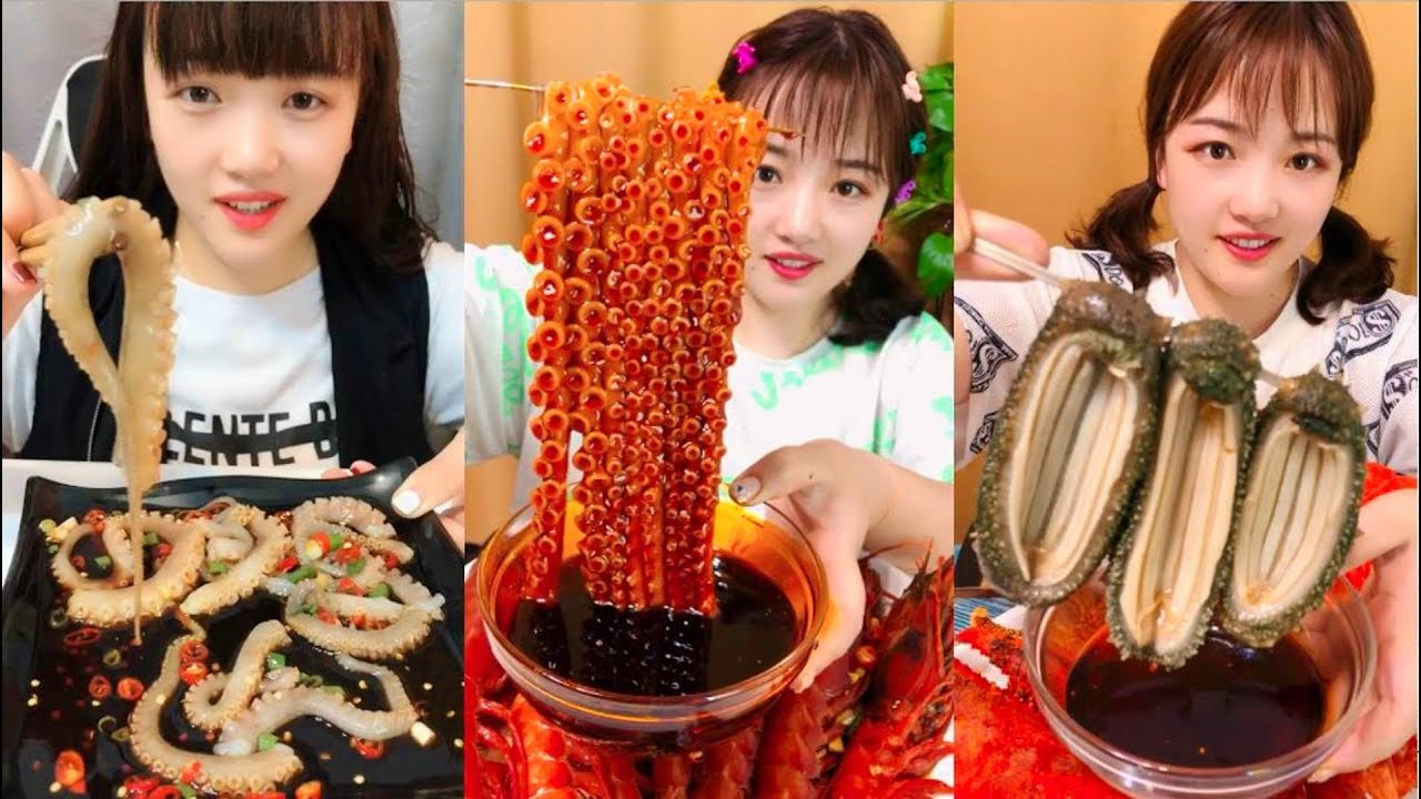 Eat octopus live with chili - SPICY FOOD COMPILATION [12]