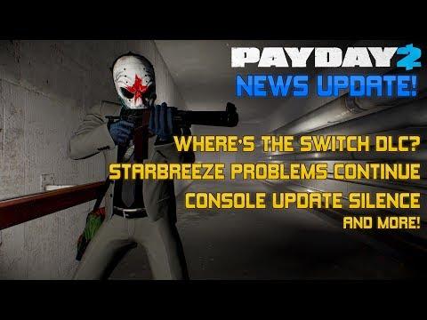 PAYDAY 2 NEWS | Starbreeze News, Switch DLC + Console Updates!