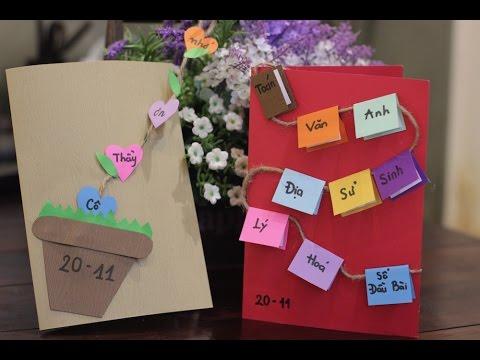 Cách làm thiệp 20-11 tặng thầy cô