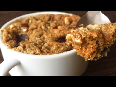 Healthy Microwave Carrot Cake   Eggless Carrot Mug Cake Recipe   Em's Kitchen