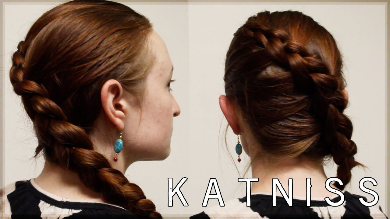 hunger games hair tutorial - katniss games braid - youtube