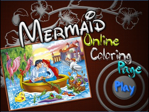 Little Mermaid Coloring Pages For Kids - Little Mermaid Coloring ...