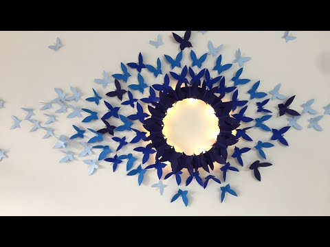 Paper Butterfly Wall Hanging | Paper Butterfly Wall art | Wall Decor ideas