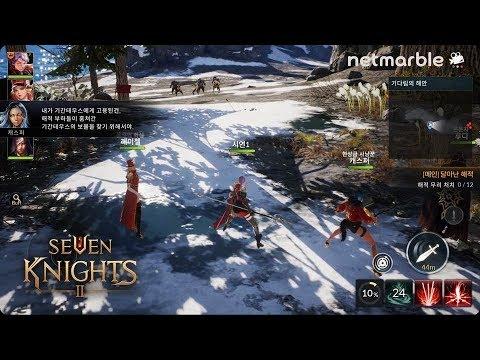 Seven Knights 2 Gameplay [Netmarble G-Star 2018] UE4 Mobile MMORPG