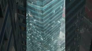 山竹10號風球下紅磡海逸廣場寫字樓好慘烈,中國製造 Supertyphoon Mangkhut attacks Hong Kong