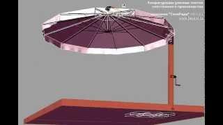 Смотреть видео зонты уличные