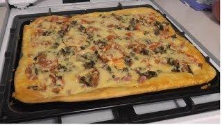 пИЦЦА на дрожжевом тесте / Рецепт домашней пиццы