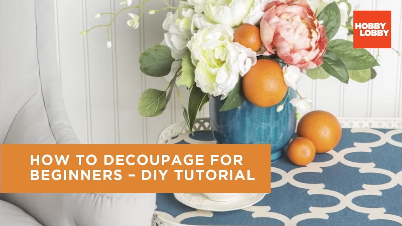 Decoupage 101 Video , Paper Crafts