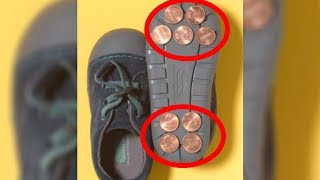 More And More Parents Are Now Gluing Pennies To The Bottoms Of Their Kids' Shoes