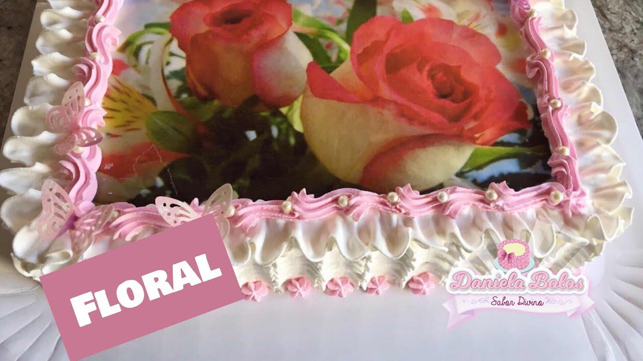 Confeitando Bolo Floral C Papel Arroz Especial