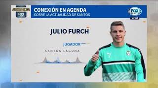 Julio Furch confirmó cuánto le queda de contrato en Santos