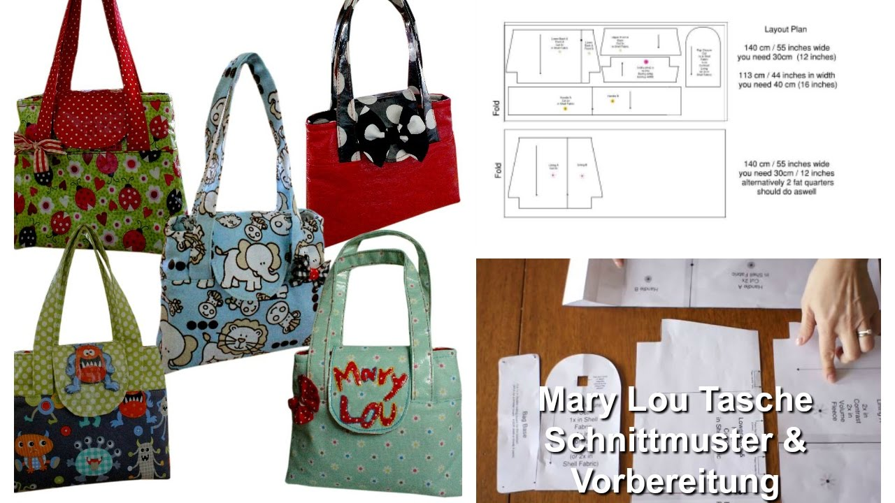 Kindertasche nähen - Einführung (Mary Lou Schnittmuster) - YouTube