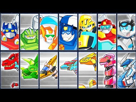 Transformers Rescue Bots: Dash + Dino Robot Corps | Eftsei Gaming