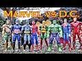 Marvel vs DC Epic Battle - Superman, Spiderman, Batman, Hulk, Aquaman, Iron Man, Captain America!