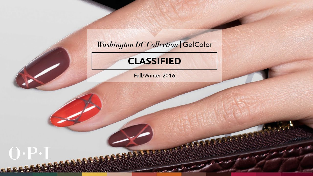 OPI GelColor Tutorial | Washington DC Collection | Classified - YouTube