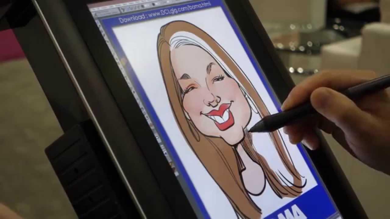 Digital Event Caricature Promo 1 - YouTube