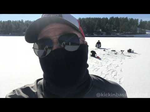 Early Ice Fishing At Evergreen Lake In Colorado! Cutbow & Rainbow Trout - 12/6/19
