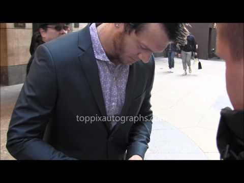 Russell Harvard  Signing Autographs at NYC hotel