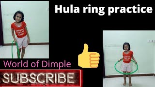 Hula ring practice #WORLD OF DIMPLE #Kid's Learning