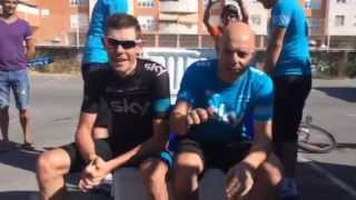 Sir Dave Brailsford and Luke Rowe take the Ice Bucket Challenge!