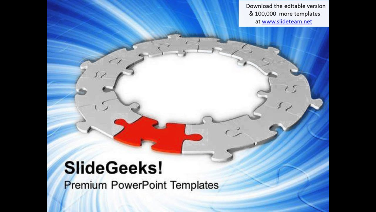 circle of jigsaw puzzles strategy powerpoint templates ppt, Modern powerpoint