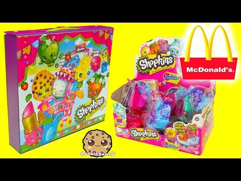 Mcdonalds Happy Meal Shopkins With 12 Surprise Blind Bags In Collectors Case - Cookieswirlc
