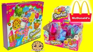 mcdonalds happy meal shopkins with 12 surprise blind bags in collectors case cookieswirlc