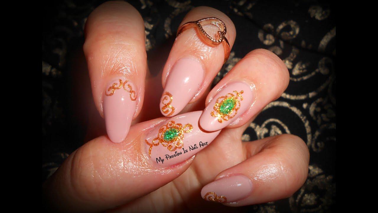 3D Jewel nails-tutorial nail art gioeillo in rilievo con le magic ...