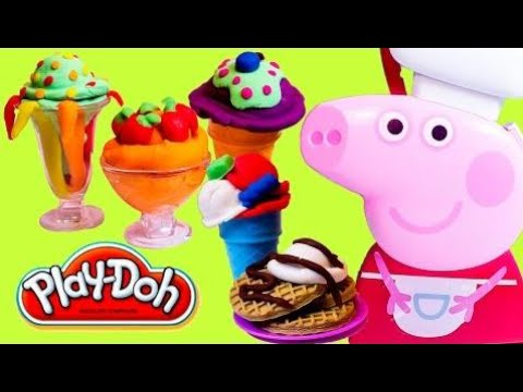 peppa pig cooking play set play doh food ice cream playdough chef peppa pig cooking set carry. Black Bedroom Furniture Sets. Home Design Ideas
