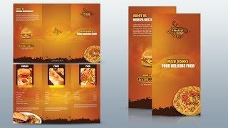 Create Tri Fold Restaurant Brochure Oshop Tutorial
